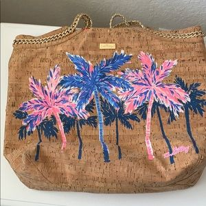 COPY - Lily Pulitzer Cork Palm Tree Tote